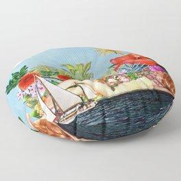 Siren Island Floor Pillow