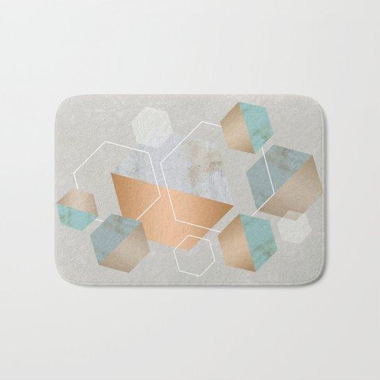 Honeycomb Concrete Bath Mat