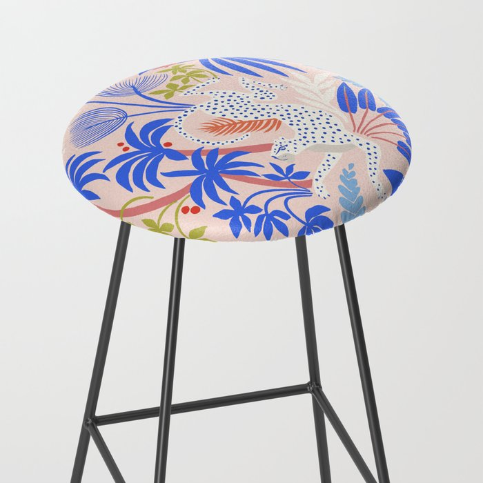 Rainforest Leopard Bar Stool