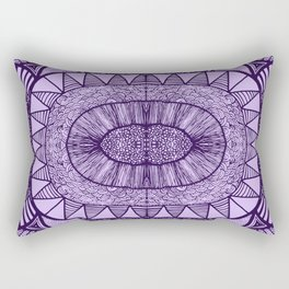Grape Tangled Mania Pattern Doodle Design Rectangular Pillow