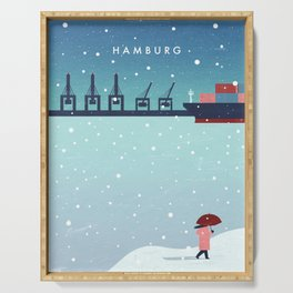 Hamburg winter Serving Tray