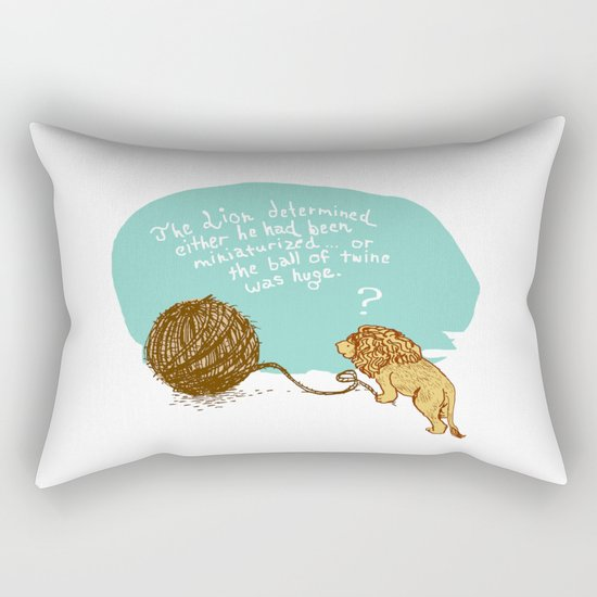 Unethical Mind Experiments on Miniaturized Animals Rectangular Pillow