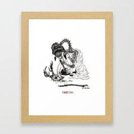I Hate Love You Framed Art Print