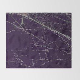 Purple Marble Crease Texture Design Throw Blanket