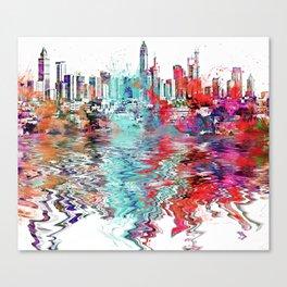 Utopia mixed media city art Canvas Print