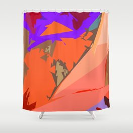 Look Ma! Purple Lights Ahead Shower Curtain