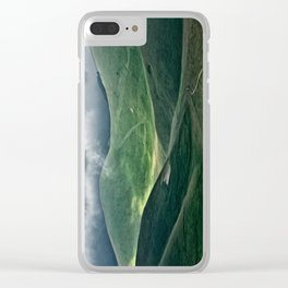 The hills of Castelluccio during a thunderstorm Clear iPhone Case