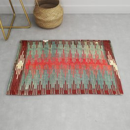Sivas Antique Turkish Kilim Print Rug