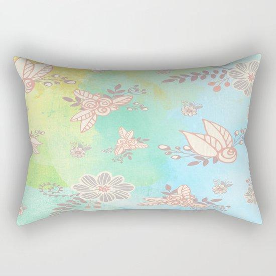Soft flower pattern Rectangular Pillow