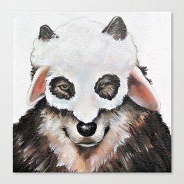 Wolf Fashionista Canvas Print