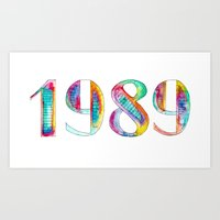 1989 Art Prints featuring 1989 by Christina Guo