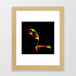 Rust and Gold Framed Art Print