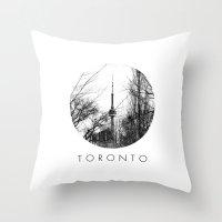 toronto Throw Pillows featuring Toronto by Arnaldo Quintini