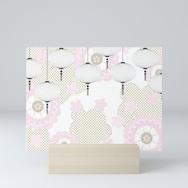 Chinese pattern Mini Art Print