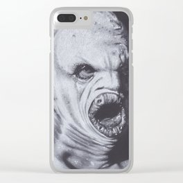 Original Charcoal Drawing of Flukeman Clear iPhone Case
