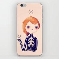bones iPhone & iPod Skins featuring Bones by Nan Lawson