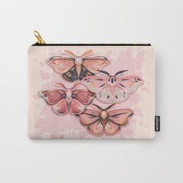 Pink Moths Carry-All Pouch