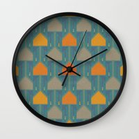 camping Wall Clocks featuring Camping by Mimi