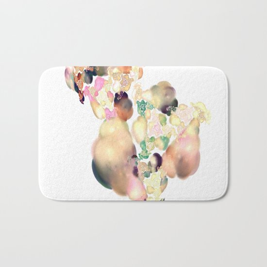 love space flowers Bath Mat