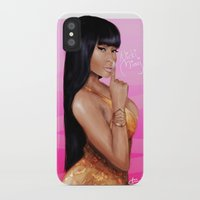 nicki iPhone & iPod Cases featuring Queen Nicki by Hanna Nordin