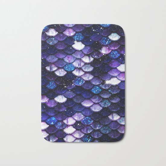 Mermaid Glitter Scales Bath Mat