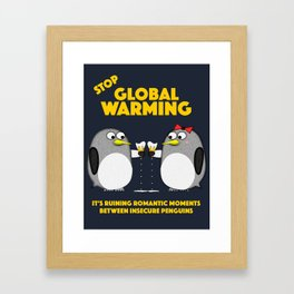 Global warming is ruining romantic moments Framed Art Print