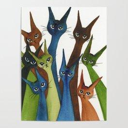 Cordoba Whimsical Cats Poster