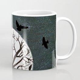Peaceful Moon Night Gathering Coffee Mug