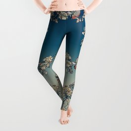 Bullfinch and French Bulldog Cherry Leggings