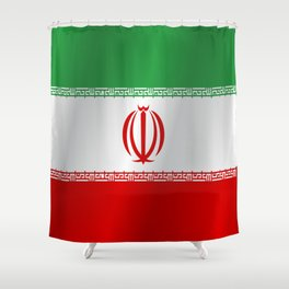 Flag of Iran Shower Curtain