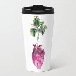 "Heart ""Beet"" (white background) Travel Mug"