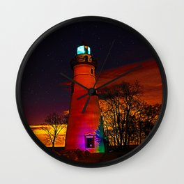 Erie glow lighthouse Wall Clock