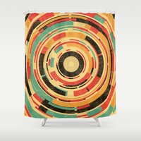 dave grohl Shower Curtains featuring Space Odyssey by Picomodi