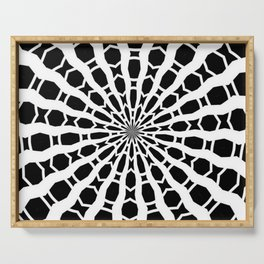 Black and White Bold Kaleidoscope Serving Tray