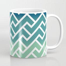 Aqua Greek Coffee Mug