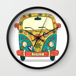 Hippie Bus Wall Clock