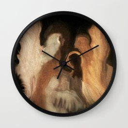 Little Family Of Angels, Abstract, by Sherriofpalmsprings Wall Clock