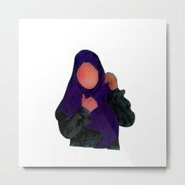 Hijabi - Muslimah - Hijab Hand drawn - Hijab Girl Metal Print