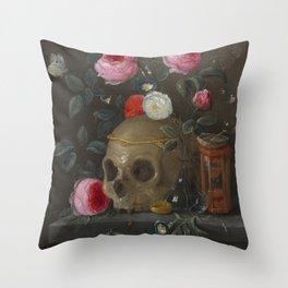 Jan van Kessel Vanitas Still Life Throw Pillow