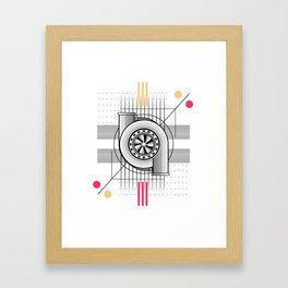 Turbo engine Framed Art Print