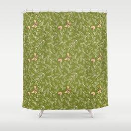 Leaves & Moths Shower Curtain