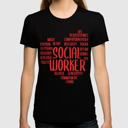 Social Worker Heart Social Care Gift T-shirt