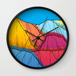 Colour outside the mountains Wall Clock
