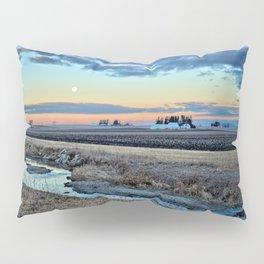 Moonset Over Iowa Pillow Sham