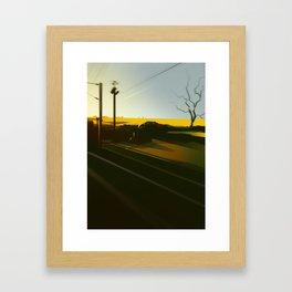 TrainBlur3 Framed Art Print