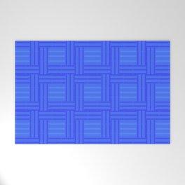 Elour Blue Tile Welcome Mat