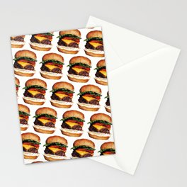 Cheeseburger Pattern Stationery Cards