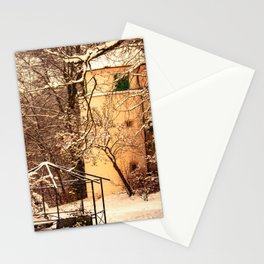 Wintry mood at the castle garden of Laupheim Stationery Cards