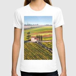 Vineyards In Tuscany Italy T-shirt