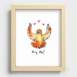 Hug a sloth Recessed Framed Print